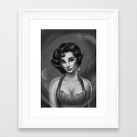 jenny liz rome Framed Art Prints featuring Liz by daekazu