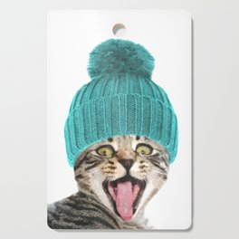 Cat with hat illustration Cutting Board