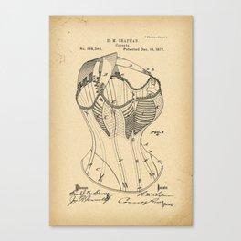 1877 Patent Corset Canvas Print