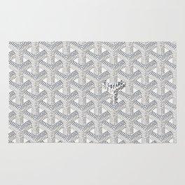 Goyard White Rug