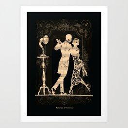 Romance D Automne Art Print