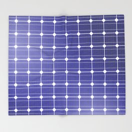 In charge / 3D render of solar panel texture Throw Blanket