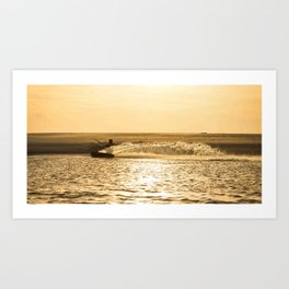 Kitesurfer At Sunset Art Print