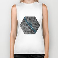 vienna Biker Tanks featuring Vienna city map black colour by MCartography