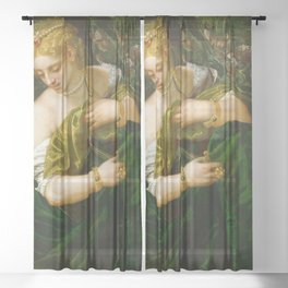 "Veronese (Paolo Caliari) ""Lucretia"" Sheer Curtain"