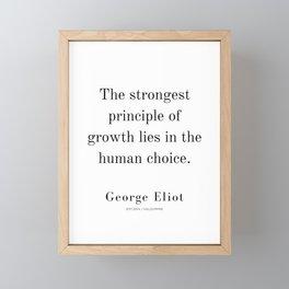 9  | George Eliot Quotes | 210226 | Framed Mini Art Print