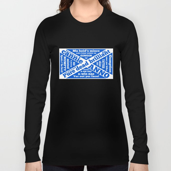 Scottish slang and phrases Long Sleeve T-shirt by mailboxdisco