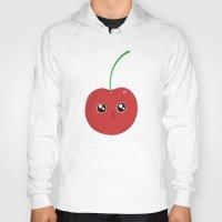cherry Hoodies featuring cherry by GarethAdamson