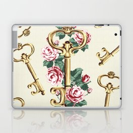 Vintage Floral Key Laptop & iPad Skin