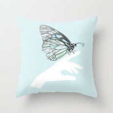 a friend in my hand 3 Throw Pillow