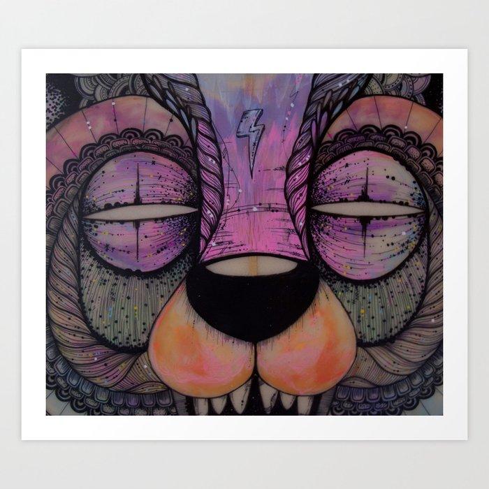 GRIZZLY SLASHER Art Print