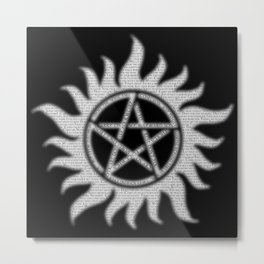Carry On Supernatural Pentacle Metal Print