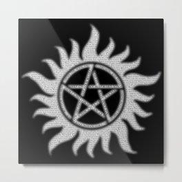 Carry On Supernatural Pentacle Metal Print