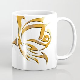 Golden tribal flower Coffee Mug