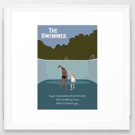 Make Believe - The Swimmer Framed Art Print