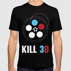 Kill 3D SMALL Black Mens Fitted Tee
