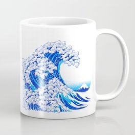 Kanagawa Cat Wave White Coffee Mug