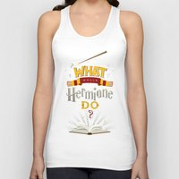 hermione Tank Tops featuring What Would Hermione Do? by Frying Sausage