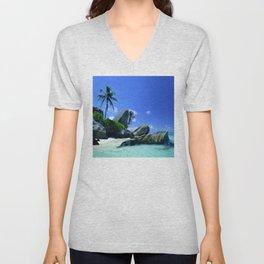 Seychelles Islands: Tropical Heaven Unisex V-Neck