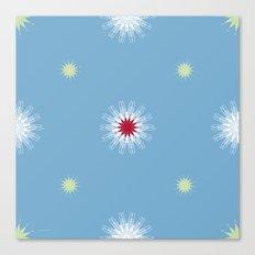 wingflowers & stars Canvas Print