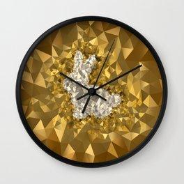 POLYNOID Bunny / Gold Edition Wall Clock