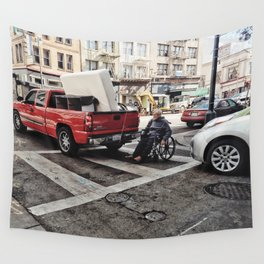 Crossing life Wall Tapestry