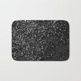 Black & Silver Glitter #1 #decor #art #society6 Bath Mat