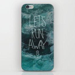 Let's Run Away - Ocean Waves iPhone Skin