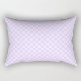 Chalky Pale Lilac Pastel Color Checkerboard Rectangular Pillow