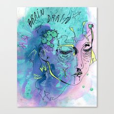 BRAIN DRAIN Canvas Print