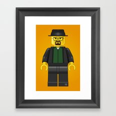 Lego Walter White - Vector Framed Art Print