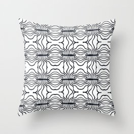 Mouth Collection: B&W stripy mouths Throw Pillow