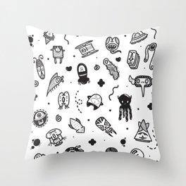 Uncommon Neighbors Throw Pillow