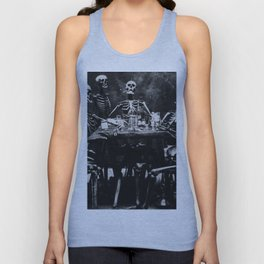 Six Skeletons Smoking Unisex Tank Top