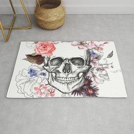 Floreal Skull Rug