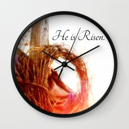 He is Risen Wall Clock