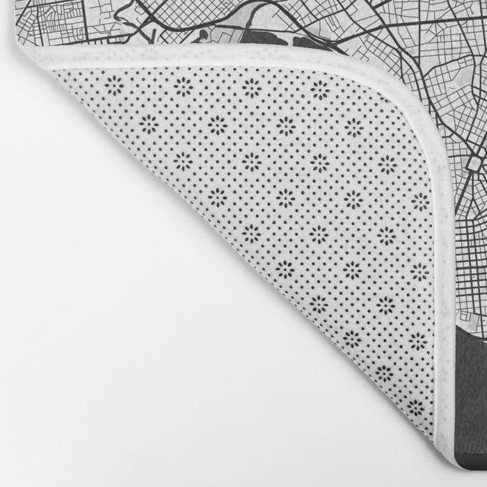 Montevideo Map Gray Bath Mat