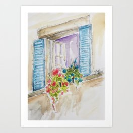 Old World Window Art Print