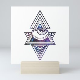 The All Seeing Eye Roll - Deep Space Punch Mini Art Print