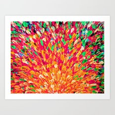 NEON SPLASH - WOW Intense Dash of Cheerful Color, Bold Water Waves Nature Lovers Modern Abstract  Art Print