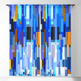 illustrations abstract colorfu Blackout Curtain