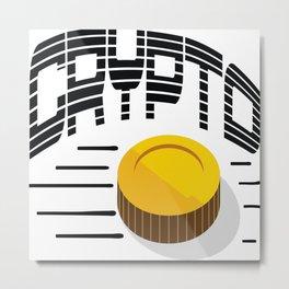 CRYPTO COIN Metal Print