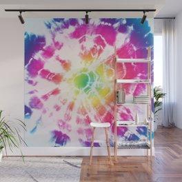 Tie-Dye Sunburst Rainbow Wall Mural