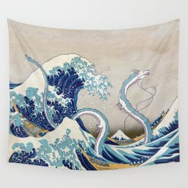 Haku and the Great Wave Wall Tapestry