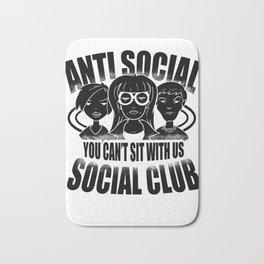 Anti Social Club Mobbing loner gift Bath Mat