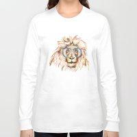 scuba Long Sleeve T-shirts featuring Scuba Lion by Kristen Williams