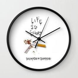 Life is Short ski mask the slump god Wall Clock