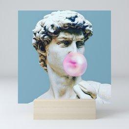 The Statue of David (Michelangelo) with Bubblegum Mini Art Print