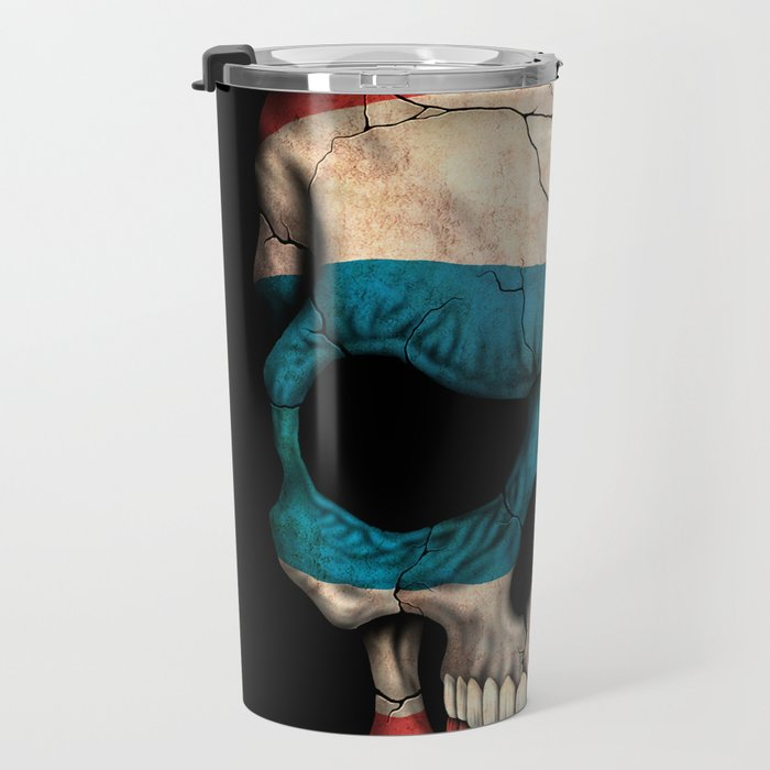 Dark Skull with Flag of Thailand Travel Mug