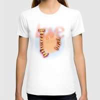 socks T-shirts featuring love socks by Elvira Marinevich